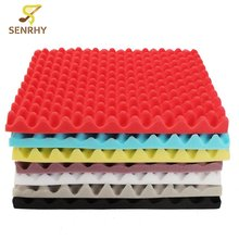 Hot Sale 500x500x50mm Soundproofing Foam Studio Acoustic Foam Soundproof Absorption Treatment Panel Tile Wedge Sponge Foam