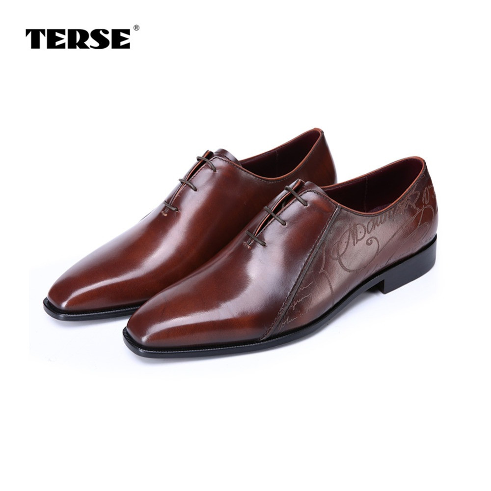 TERSE_Hot sale mens dress shoes 3 colors luxury oxfords shoes goodyear handmade leather wedding shoes bespoke luxury custom logo 2016 luxury mens goodyear welted oxfords shoes vintage boss brogue shoes italian mens dress shoes elegant mens gents shoes derby