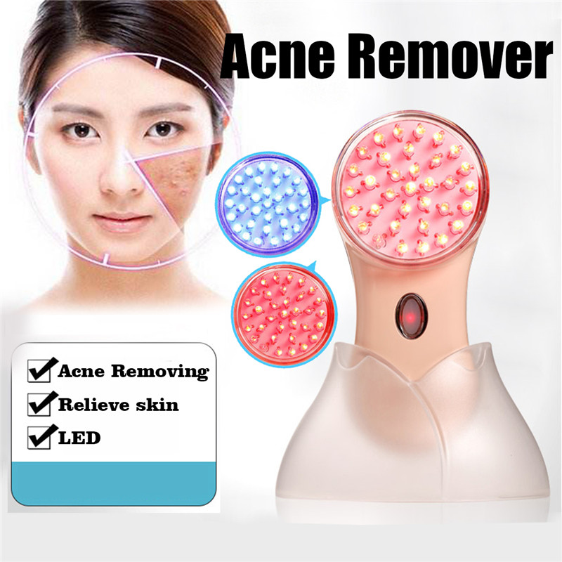 LED Photon Therapy Acne Remove Beauty Machine Skin Care Pore Vacuum Blackhead Remover Skin Care Device+Magnifying Mirror anti acne pigment removal photon led light therapy facial beauty salon skin care treatment massager machine