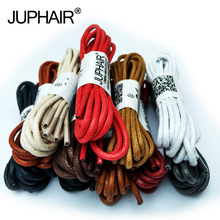 JUP1-12 Pair Khaki Laces Waxed Round Shoelaces Sneaker Laces Solid Polyester Twisted Boots Shoes High Quality Brand Fashion Lace