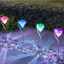Super 4Pcs Outdoor Stainless Steel LED Solar Light Landscape Path LED Solar Light Outdoor Yard Lamp Led Solar Lamp Garden Light