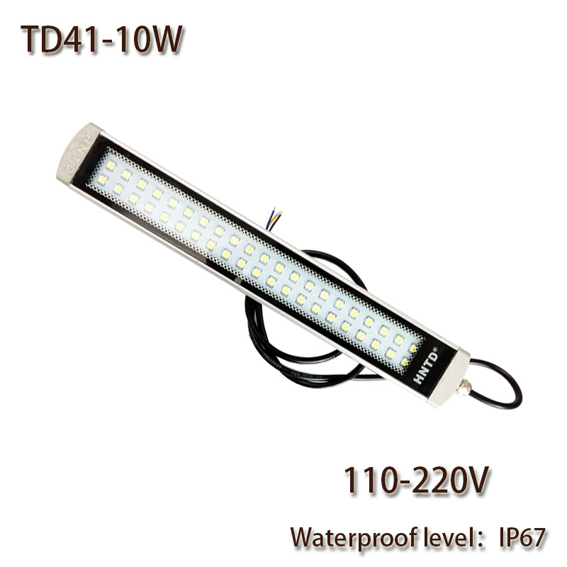 HNTD10W AC 110V 220V LED Work Light Explosion-proof Waterproof IP67 TD41 Led Panel Light CNC Machine Tool lighting Free shipping high quality cmo td41 30w 110v 220v led aluminum waterproof explosion proof led working machine light cnc machine tool lamp