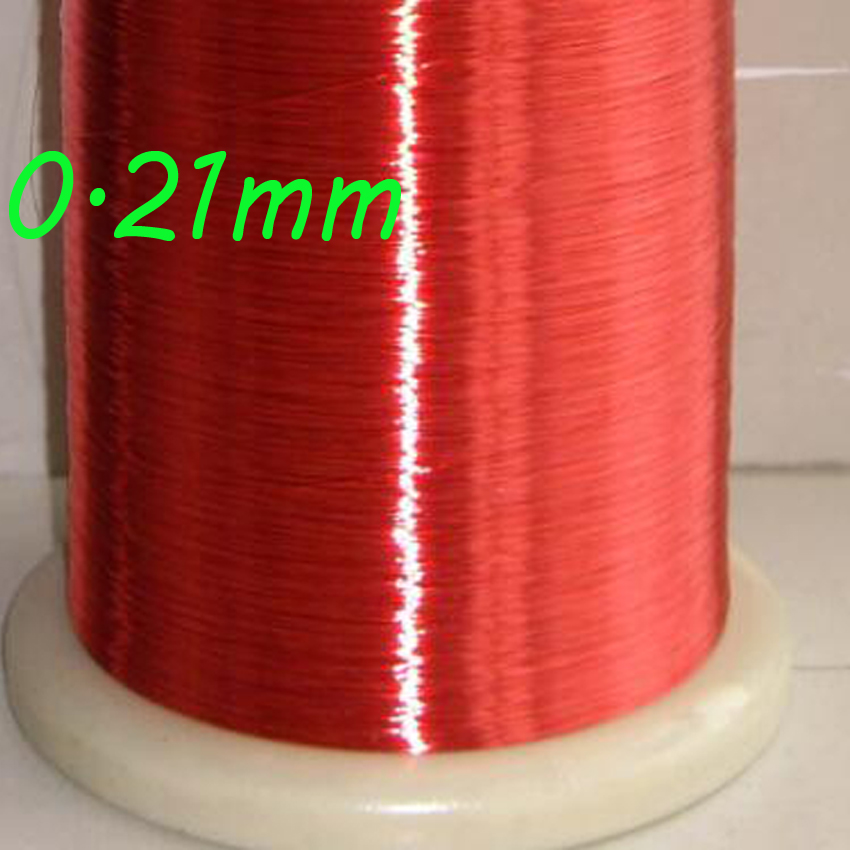 cltgxdd  Red Magnet Wire 0.21mm Enameled Copper wire Magnetic Coil Winding