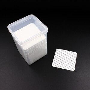 Image 5 - 170pcs eyelash glue Remover Cotton Wipes UV Gel Nail Tips Polish Remover Cleaner Lint Free Paper Pad eyelash make up Tools