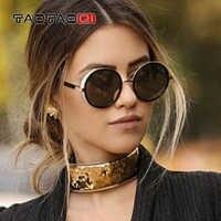 TAOTAOQI Neue Sonnenbrille Frauen Marke Designer Luxus Dekoration Rahmen Runde Brille Steampunk Mode Klassische Sonnenbrille UV400