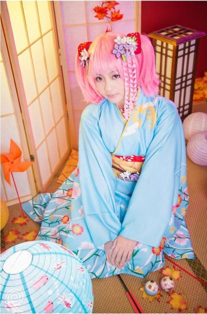 Puella волхвов Мадока Magica Канаме Мадока кимоно платье наряд Костюмы для косплея