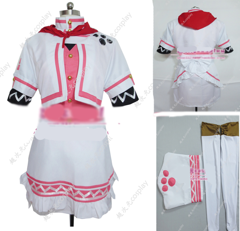 Monster Hunter Cosplay Bistro Armor cosplay Costume with hat and socks