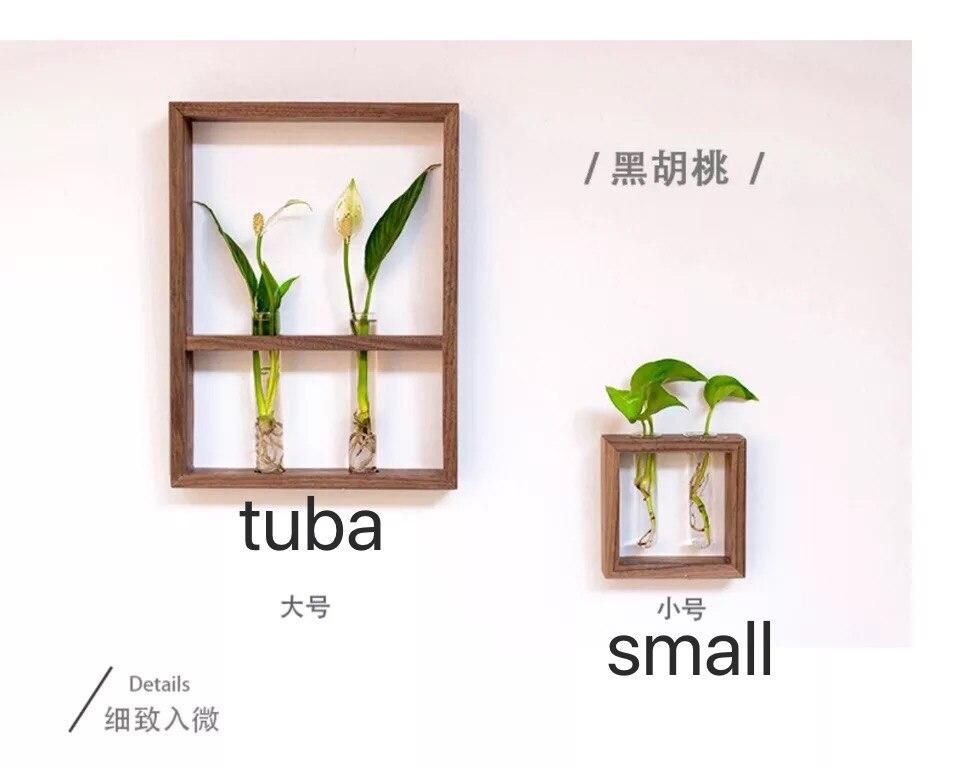 40x30 cm cadre végétal hydroponique peinture décorative style japonais simple fleur tenture murale bois fleur stand salon