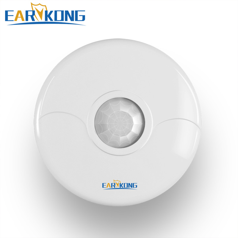 Wireless Ceiling Infrared Detectors 433MHz For Home Security Wifi GSM PSTN Alarm System. 2 Pieces 1.5V Battery Not Include