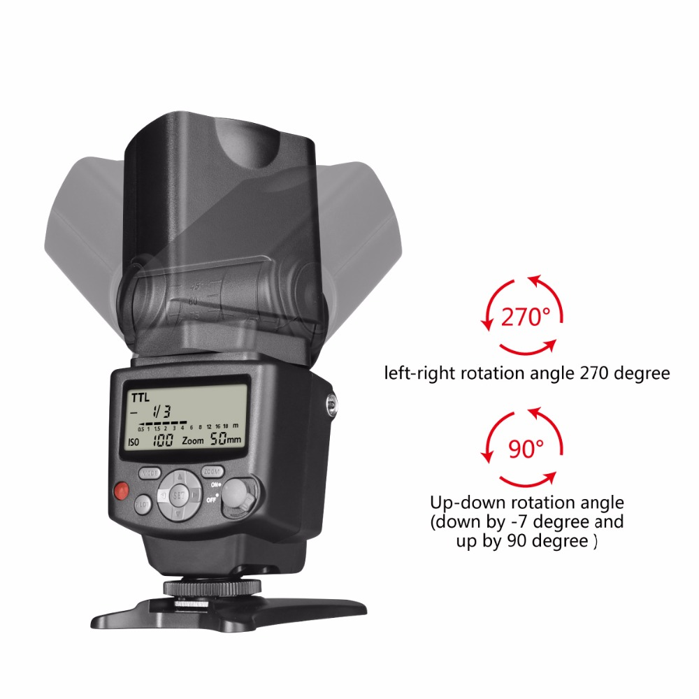 Image 5 - Voking VK430 I TTL LCD Display Blitz Speedlight Flash for Nikon D5500 D5300 D3300 D7200 D3400 D5300 D500 D7500 D750 D5600-in Flashes from Consumer Electronics