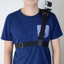 Действий камеры плечевой ремень крепление для gopro hero 4 3 2 sj4000 4 К sj8000 sj7000 спорт грудь жгут ремень адаптер