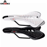 PU Leather Bicycle Saddle Lightweight Road Mountain Bike Saddle MTB Cycling Ergonomic Hollow Front Seat Cushion