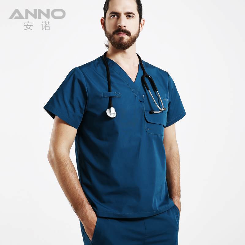 Medical work wear Hospital Doctor Nurse Woman&Man Short sleeve Medical Clothing uniformes hospital women nurse uniform designs