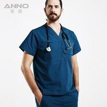 Medical work wear Hospital Doctor Nurse Woman&Man Short sleeve Medical Clothing uniformes hospital women nurse uniform designs