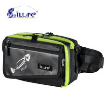 iLure 2017 New fishing bag 530g fishing multi-purpose bag tools bag fishing tackle bags Bait for bait with elastic fishing roll