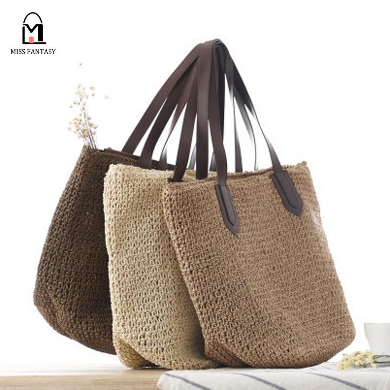 2017 Summer New Striped Crochet Shoulder Bag Fashion ...