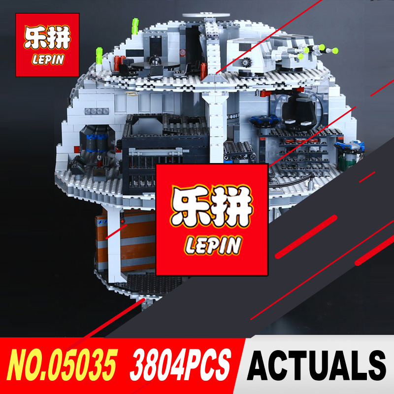 LEPIN 05035 Star Classic Wars Death Star 3804Pcs Building Block Bricks Toys Compatible with 10188 Children Educational Gift new lepin 05035 star wars death star 3804pcs building block bricks toys kits compatible legoed with 10188 children educational