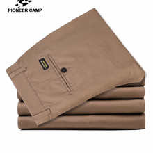Pioneer Camp solid casual pants men brand clothing stretch classic mal