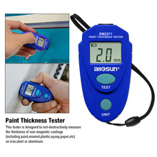 цена на Automotive Paint Thickness Meter Car Coating Tester Painting Thick Gauge Digital Vehicle Hand Tool All-sun EM2271 Russian Ship