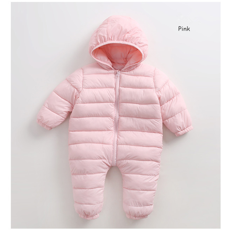 Newborn Girls Rompers Infant Baby Boys Jumpsuit  Clothes Toddler Down Jacket Romper Clothing Nylon-padded Overalls Warm Winter 2017 baby knitted rompers girls jumpsuit roupas de bebe wool baby romper overalls infant toddler clothes girl clothing 12m 5y