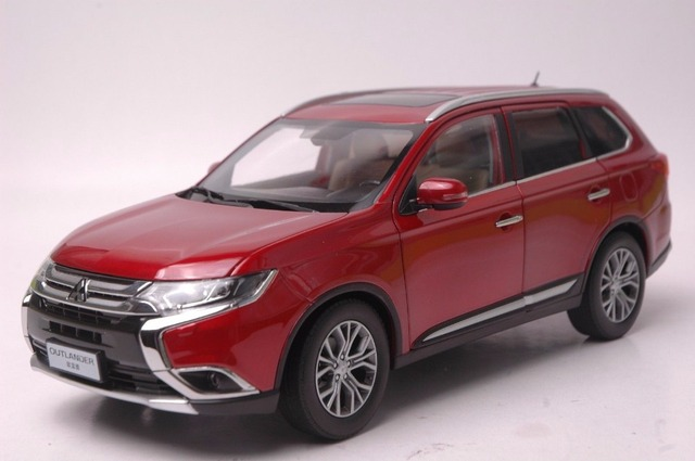 1 18 Diecast Model For Mitsubishi Outlander 2017 Red Suv Alloy Toy