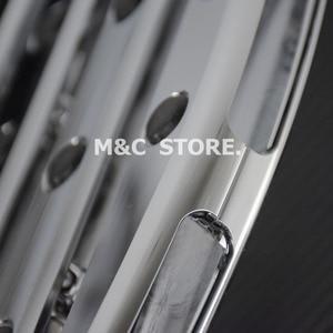 Image 5 - Chrome Front Driver Floorboards Voetsteunen Uitgerekt Pedaal Voor Harley Touring Road King Glide Softail Dyna Straat Flh Flst Fld