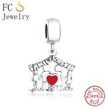 be46eb13b Genuine 925 Silver Family Love Forever Pendant Dangle Charms Fit Original Pandora  Charm Bracelet Necklace European DIY Berloque