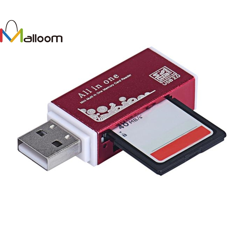 Malloom 2018 New Arrival Universal Metal USB 2.0 All In 1 Multi SD TF Memory Card Reader for PC Computer Mobile phone&15
