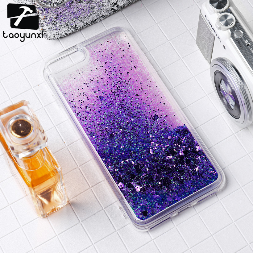TAOYUNXI Glitter Stars Cases Cover For Apple iPhone 6 6S 66S 6G iphone6 Case Dynamic Liq ...