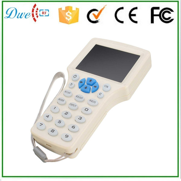 DWE CC RF DWE CC RF 9 Frequency Copy Encrypted NFC Smart Card RFID Copier ID IC Reader Writer english version ...