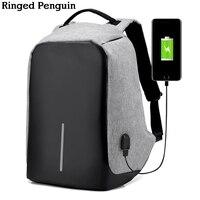 Ringed Pen Anti Theft Backpack USB Charging Men Laptop Backpacks For Teenagers Male Mochila Travel Backpack