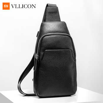Xiaomi Mijia Youpin Fashion VLLICON Casual Men's Suede Leather Chest Bag Shoulder Bag 190*80*320mm - DISCOUNT ITEM  30% OFF All Category
