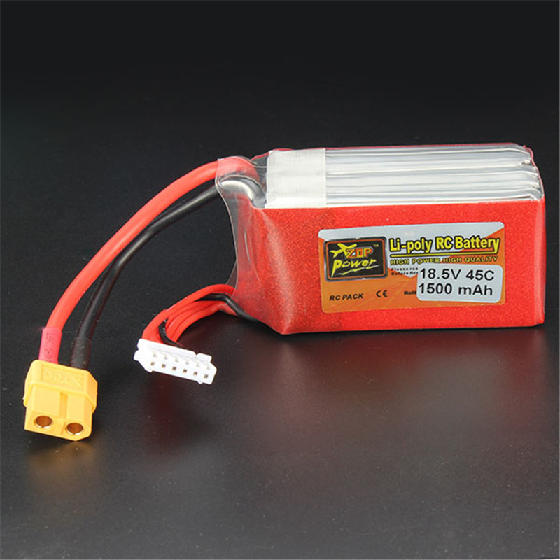 Hot New Rechargeable Lipo Battery ZOP Power 18.5V 1500mAh 5S 45C Lipo Battery XT60 Plug