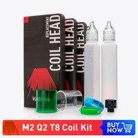 Volcanee Baby Coil Q2 M2 T8 Empty E Liquid 30ml Bottle Juice 510 Snake Drip Tip for TFV8 Baby E Cigarette Atomizer Vape Coils