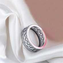 2018 BFQ Hot Sale 925 Sterling Silver Ring Square Vintage Fascination Big Diamond Rings For Women's Luxury  S925 Fine Jewelry