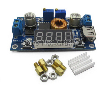 FREE SHIPPING 5A Constant Current Buck Power Module With Voltage And Current Power Display Driver LED Rechargeable