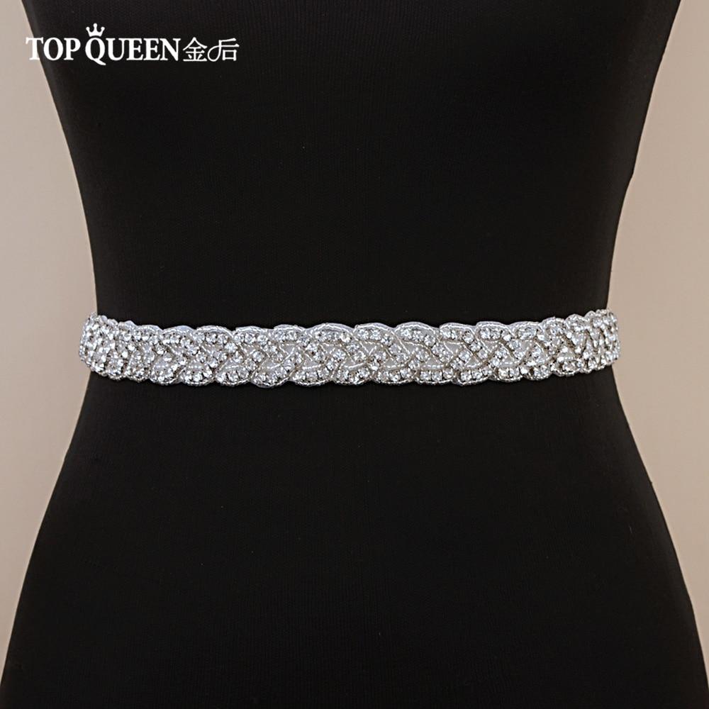 TOPQUEEN S216 Women s Rhinestones Handmade Belt Wedding Belt Accessories Marriage Bridal Sashes wedding bridal sashs