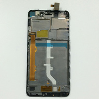 LCD Display Panel Monitor Black Touch Screen Digitizer Glass Lens Assembly With Frame For Lenovo