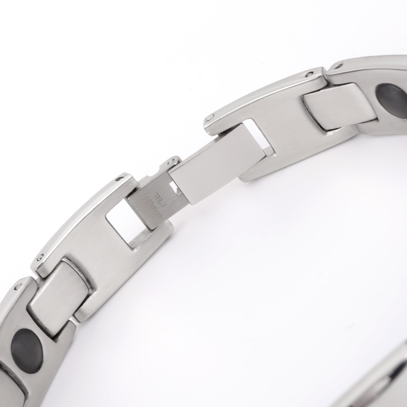 2019 Fashion man Bangles bracelets for men bijoux titanium 316L stainless steel Jewelry charm therapy magnetic bracelet (3)