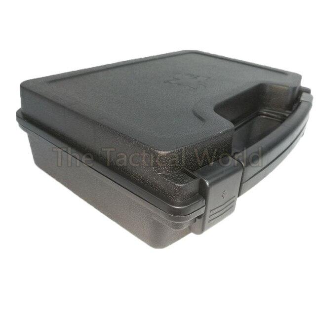 Tactical Outdoor Accessories Pistol Box Large Hard Case Paintball Revolver Gun Storage Black Airsoft Handgun