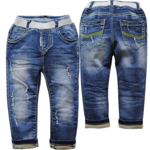 6084 ДЕТСКИЕ джинсы мальчик и девушки повседневные брюки для детей мальчиков брюки весна и осень мода новый синий детские джинсы