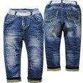 6084 denim JEANS BEBÊ menino & meninas calça casual crianças meninos calças primavera & outono moda de nova azul calças de brim do bebê
