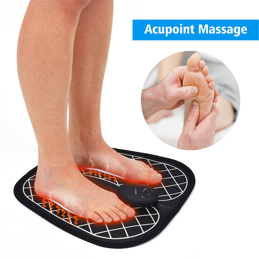 Electric EMS Foot Massager ABS Physiotherapy Revitalizing Pedicure Tens Foot Vibrator Wireless Feet Muscle Stimulator Unisex in Foot Care Tool from Beauty Health
