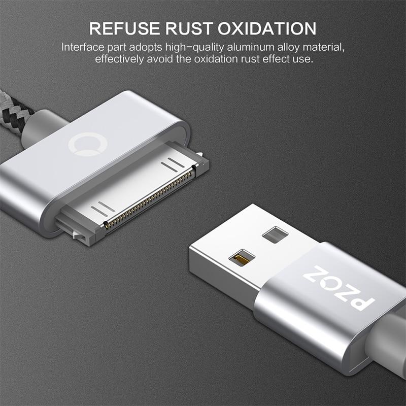 PZOZ USB մալուխի լիցքավորում արագ iphone 4 s 4s - Բջջային հեռախոսի պարագաներ և պահեստամասեր - Լուսանկար 3