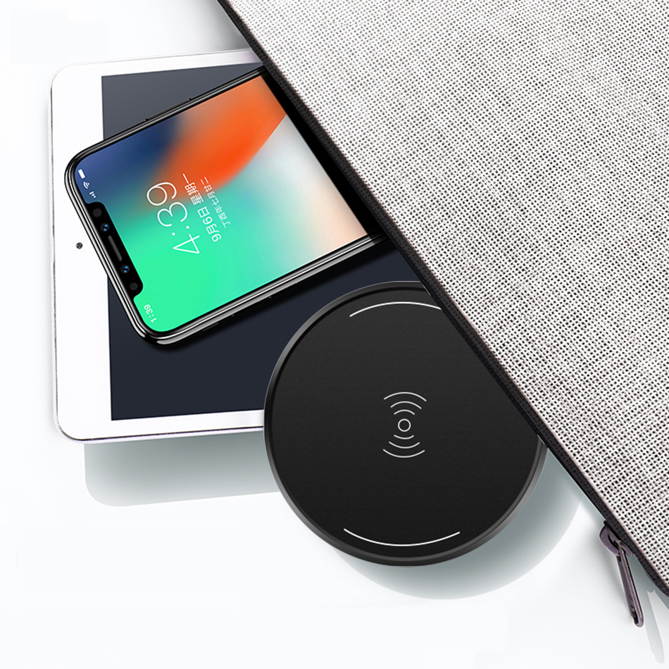 CinkeyPro Wireless Charger Charging Pad for iPhone 8 10 X Samsung S7 S8 5V:1A Adapter Charge Mobile Phone QI Device Universal 8