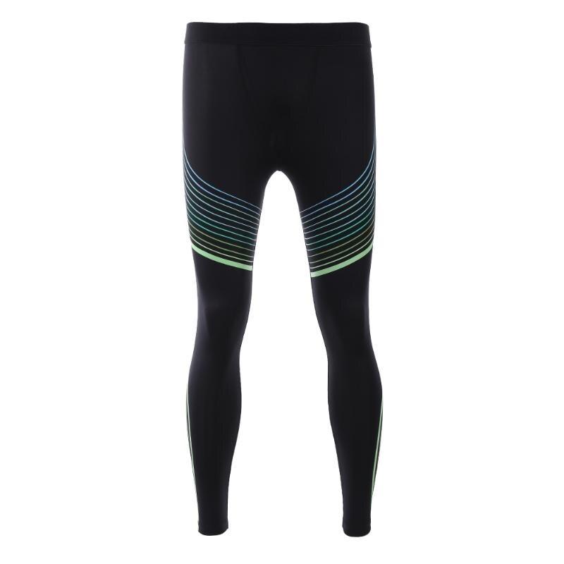 Outdoor Quick-Drying Pants Men Running Nylon Spandex Slim Tight Pants Sport Compression Leggings Pants Fitness Training