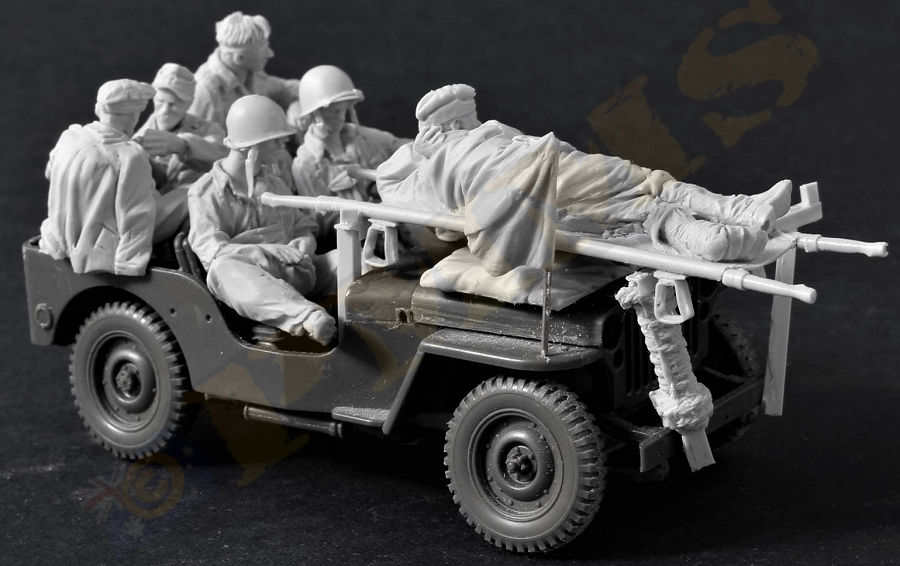 1/35 Resin Figure Model Kit Unassambled Unpainted 466(NO CAR)