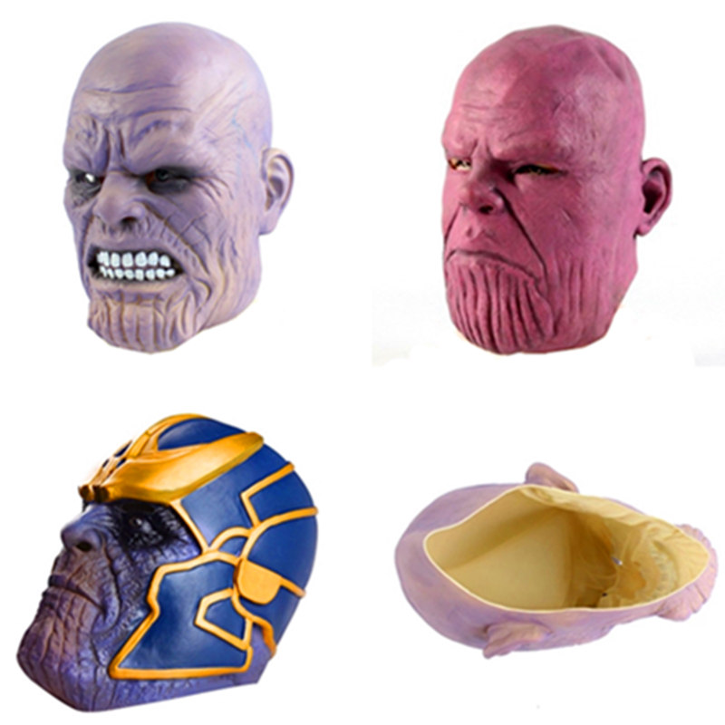 2019 Fashion Avengers Infinity War Thanos Mask Toy Halloween Cosplay Party Latex Thanos Helmet New Collection Models Birthday Gift