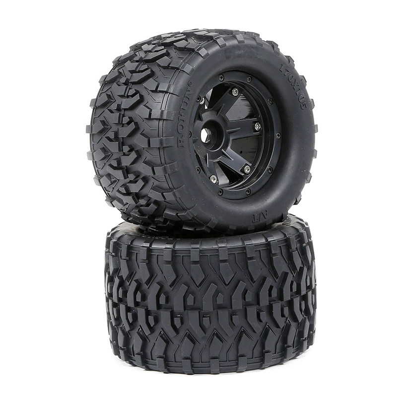 All Terrain Wheel Tires Set(170mmX105mm) for 1/8 HPI Racing Savage XL FLUX Rovan TORLAND MONSTER BRUSHLESS Truck Rc Car Parts image
