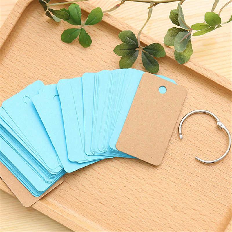100 ページメモ帳単語研究カードポータブルメモ帳ルーズリーフノート DIY メモ帳空ページ空白クラフト紙
